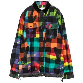 sacai - sacai x KAWS Plaid Shirt multi 3