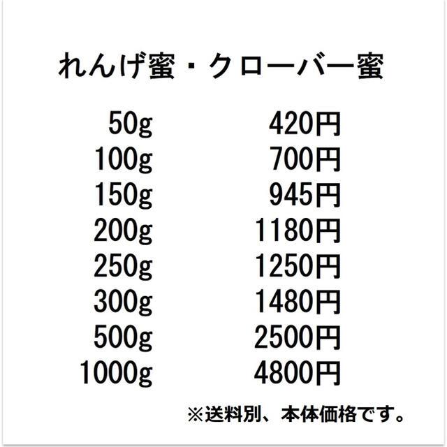 増量!【非加熱・生はちみつ】百花蜜・300g&150g(2本) 食品/飲料/酒の食品(その他)の商品写真