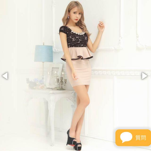 dazzy store(デイジーストア)のdazzy store パール×ビジュー付きレースペプラムタイトミニドレス レディースのフォーマル/ドレス(ミニドレス)の商品写真