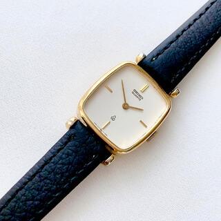 セイコー(SEIKO)のSEIKO 2針 白文字盤 レディースクォーツ腕時計 稼動品 ベルト未使用(腕時計)