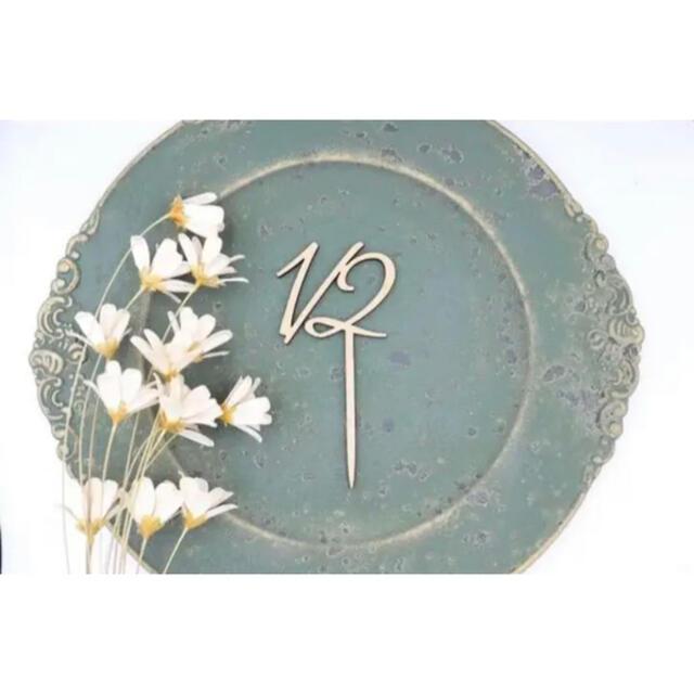 ケーキトッパー 木製ケーキトッパー ハーフバースデー 記念日 バースデーフォト キッズ/ベビー/マタニティのメモリアル/セレモニー用品(その他)の商品写真