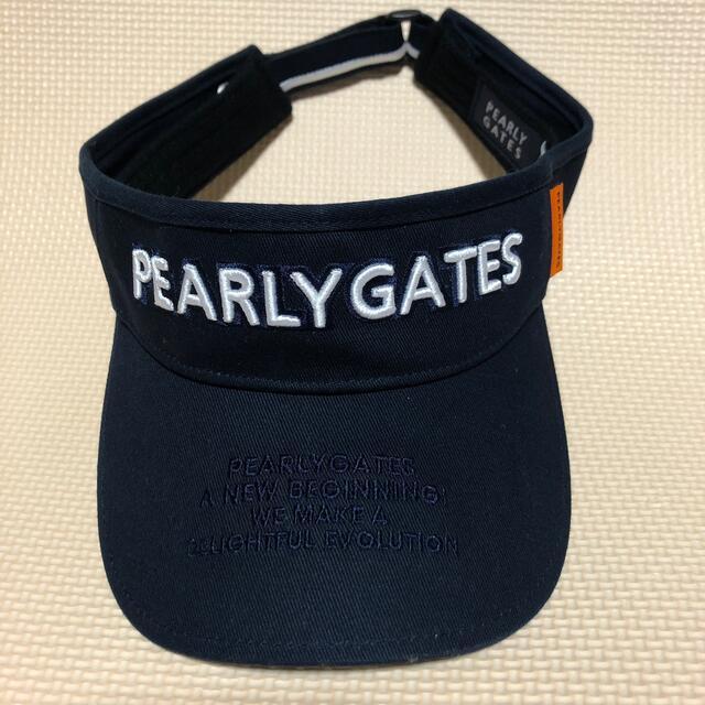 PEARLY GATES(パーリーゲイツ)の(みわ様専用)パーリーゲイツサンバイザー メンズの帽子(サンバイザー)の商品写真