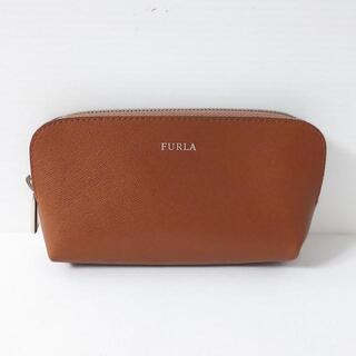 Furla - フルラ ポーチ美品  - ブラウン レザー