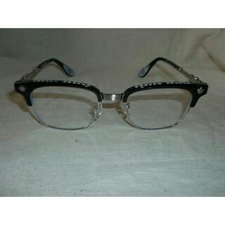 クロムハーツ(Chrome Hearts)のクロムハーツ伊達メガネ ブラックホワイト 男女兼用(サングラス/メガネ)