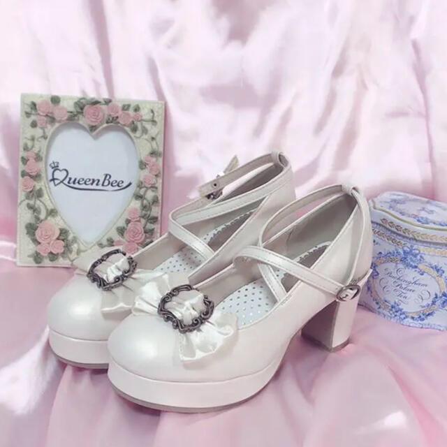 Angelic Pretty(アンジェリックプリティー)の新品QueenBeeクラシカルフレームパンプスLL レディースの靴/シューズ(ハイヒール/パンプス)の商品写真