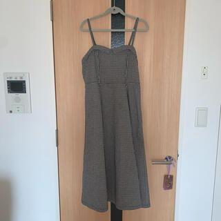 F i.n.t - f.i.n.t ギンガムチェック ジャンパースカート