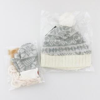 ボークス(VOLKS)の海外メーカー 60cmドールサイズ SDサイズ ニット帽&手袋セット グレー(人形)