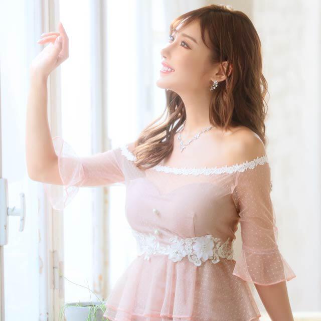 dazzy store(デイジーストア)のキャバドレス ♡ 明日花キララ着 ♡ ピンク レディースのフォーマル/ドレス(ミニドレス)の商品写真