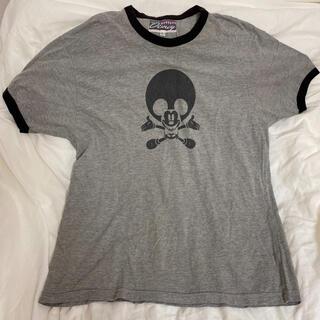 Disney - ヴィンテージディズニー Tシャツ リンガー スカルミッキー 古着