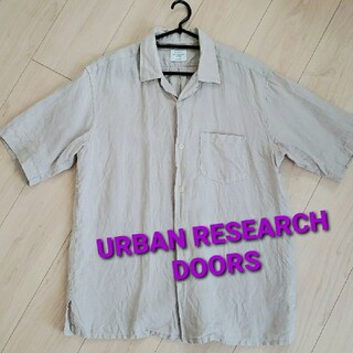 DOORS / URBAN RESEARCH - アーバンリサーチドアーズ オープンカラーリネンシャツ