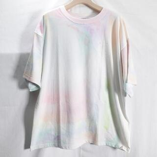 JEANASIS - JEANASIS ボカシ柄ビッグTシャツ レディース パステル