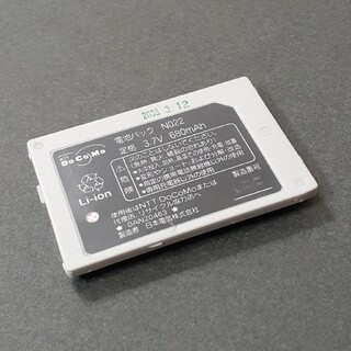 NTTdocomo - NTT ドコモ 純正品 電池パック N022 N504iSで充電残量チェック済み