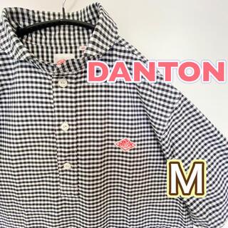 ダントン(DANTON)のDANTON ダントン シャツ ギンガム 半袖 プルオーバーシャツ Mサイズ(シャツ)