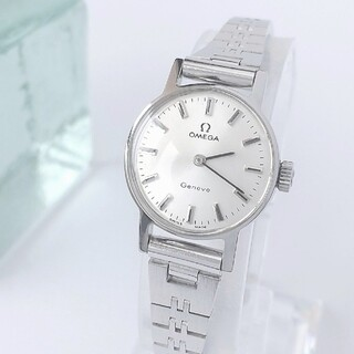⭐OH済 綺麗 オメガ 新品ブレス ベルト 白系 レディース腕時計 着物 極美品