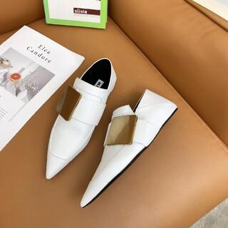 ジルサンダー(Jil Sander)のジルサンダー パンプス ホワイト(ローファー/革靴)