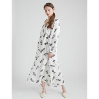 【新品】ジェラートピケ オーガニックコットン オリーブモチーフドレス