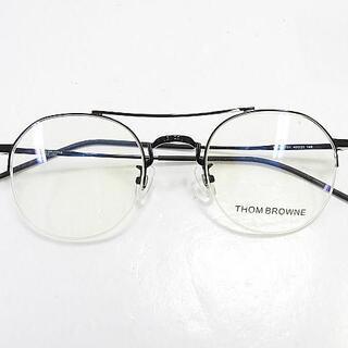 トムブラウン(THOM BROWNE)の【美品】トムブラウン 眼鏡 サングラス クリア ブラック 正規品(サングラス/メガネ)
