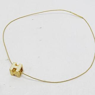 エルメス(Hermes)のエルメス Hキューブ ネックレス ゴールド 正規品(ネックレス)