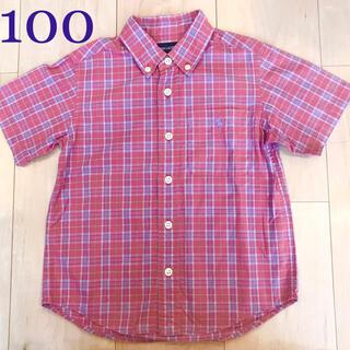 Ralph Lauren - ラルフローレン シャツ チェック 赤 紫 半袖 100