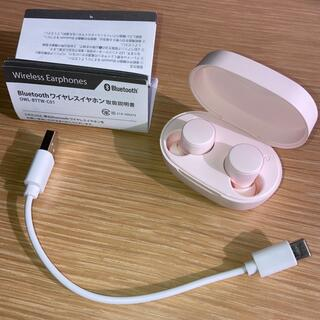 Bluetooth ワイヤレスイヤホン ピンク オウルテック