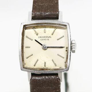 ユニバーサルジュネーブ(UNIVERSAL GENEVE)のUNIVERSAL GENEVE ユニバーサル 手巻き 腕時計 レディース(腕時計)