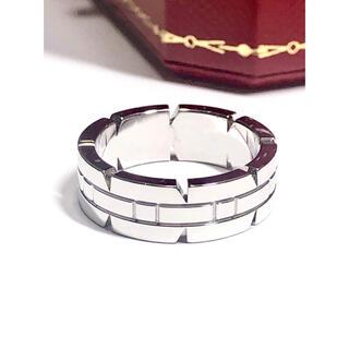 Cartier - 【美品】Cartier カルティエ 750WG タンクフランセーズ リング