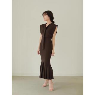 Noble - 【L'Or】Mermaid Knit Skirt Dark Brown