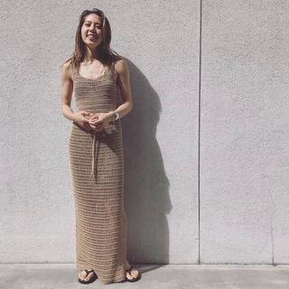 Fabiane Roux - nowos 2020SS 美品 かぎ針編みニットスカート 未使用 Sサイズ