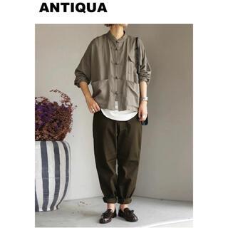 antiqua - 【antiqua(アンティカ)】カーブシルエットパンツ