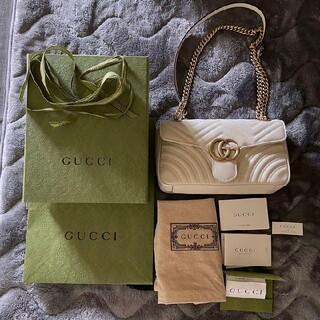 グッチ(Gucci)のgucci グッチ GGマーモント キルティング スモール ショルダーバッグ(ショルダーバッグ)
