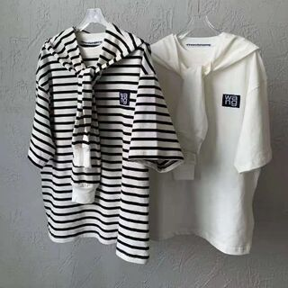 アレキサンダーワン(Alexander Wang)のAlexander Wang 2点セット Tシャツ半袖 ストライプ 取り外し可能(Tシャツ(半袖/袖なし))