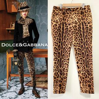 ドルチェアンドガッバーナ(DOLCE&GABBANA)の16.17AW 美品■メンズ可■Dolce&Gabbana/パンツ レオパード(カジュアルパンツ)