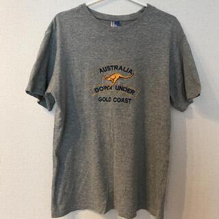 オーストラリア カンガルー刺繍Tシャツ(Tシャツ(半袖/袖なし))