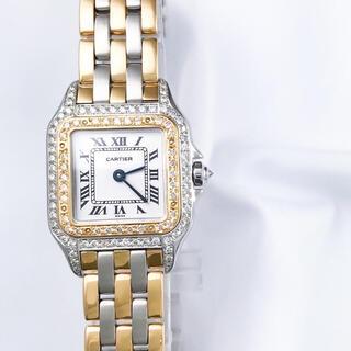 Cartier - 【仕上済】カルティエ パンテール 3ロウ コンビ ダイヤ レディース 腕時計