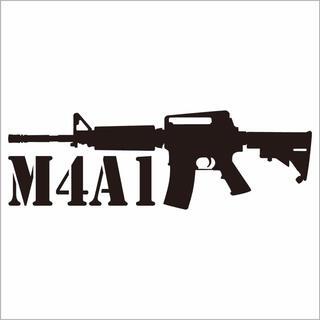ミリタリーステッカー M4A1シルエット(その他)