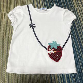 familiar - ファミリア いちごポシェット Tシャツ 90