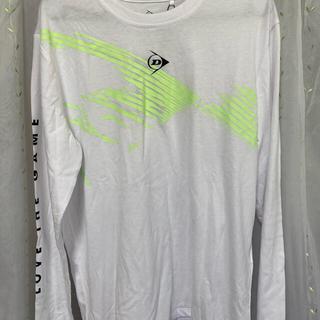 ダンロップ(DUNLOP)のDUNLOP長袖シャツ ホワイト×イエロー Mサイズ(Tシャツ/カットソー(七分/長袖))