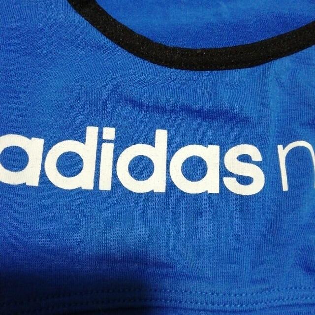 adidas(アディダス)のアディダス ハーフトップ 140 ピンク&ブルー2枚組 キッズ/ベビー/マタニティのキッズ服女の子用(90cm~)(下着)の商品写真