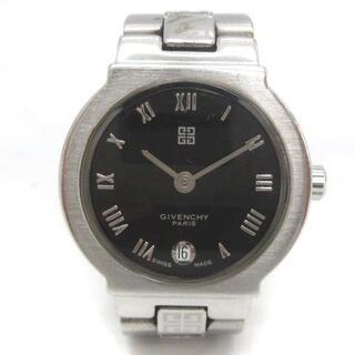 ジバンシィ(GIVENCHY)のジバンシィ 腕時計 アナログ クォーツ 2針 カレンダー 金属ベルト シルバー(腕時計)