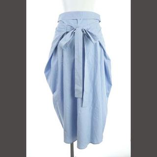 Jil Sander - ジルサンダー スカート ロング フレア ベルト付き 34 水色 ライトブルー