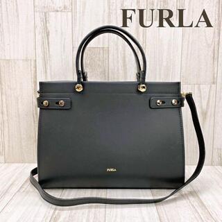 Furla - フルラ 2WAYショルダーバッグ LADY M レディM ブラック レザー