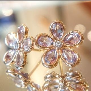 Tiffany & Co. - ティファニー アメジスト フラワー ピアス ダイヤモンド K18 ダイヤ