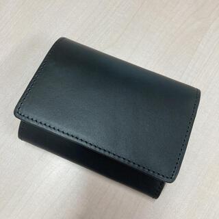 ムジルシリョウヒン(MUJI (無印良品))の無印良品 イタリア産ヌメ革 三つ折り財布 黒(折り財布)