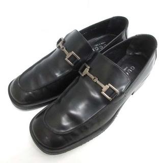 グッチ(Gucci)のグッチ ローファー スリッポン ドレスシューズ 6.5B 23.5cm 黒(ローファー/革靴)