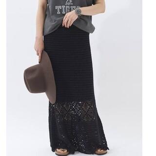 Plage - Crochet スカート ブラック 38