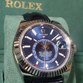 ロレックス(ROLEX)のロレックス 326139 スカイドゥエラー 青文字盤 ブルー 金無垢 WG 美品(腕時計(アナログ))