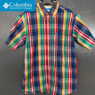 コロンビア(Columbia)の【Columbia】(コロンビア) マルチチェック半袖シャツ 古着(シャツ)