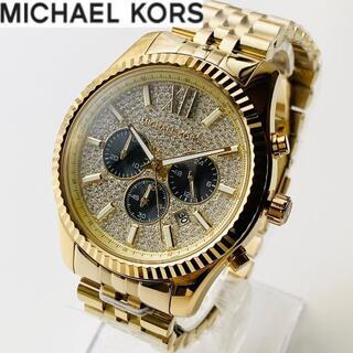 【大人気】マイケルコース 新品 男性メンズ 腕時計 ゴールド クロノグラフ