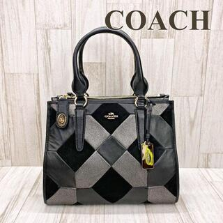 COACH - コーチ COACH ハンドバッグ パッチワーク 36531 ブラック