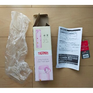 サーモス(THERMOS)のサーモス真空断熱マグボトル 柄付きピンクの箱(水筒)